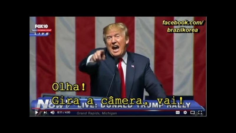 Trump pede pra imprensa mostrar a platéia (HD) - Traduzido Original!
