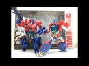 Transformers Tribute Evolution Optimus Prime Orion Pax Chefatron Toy Review