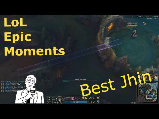 LoL EPIC moments | Best Jhin | 1 lvl sleal buff | ЛоЛ приколы