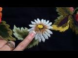 Вышивка гладью Ромашка Embroidery