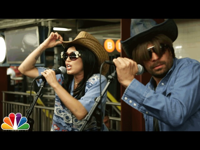 Miley Cyrus Busks in NYC Subway in Disguise