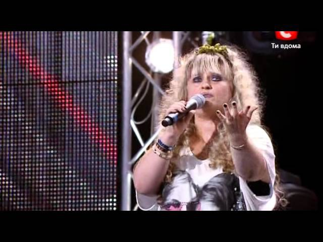 X-factor 2 ukraine Elena Mamai Елена Мамай кранощица икс фактор 2