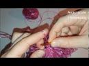 Вяжем мочалку-рукавичку вытянутыми петельками. Часть 2