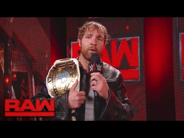 Dean Ambrose gets the scoop backstage Raw May 1 2017