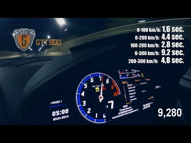 0-300 km/h Lamborghini Huracan TwinTurbo GTT-900