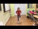 наша девочка учится танцевать
