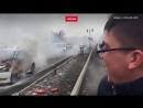 Весёлый водитель предложил тушить пожар в его автомобиле шапкой