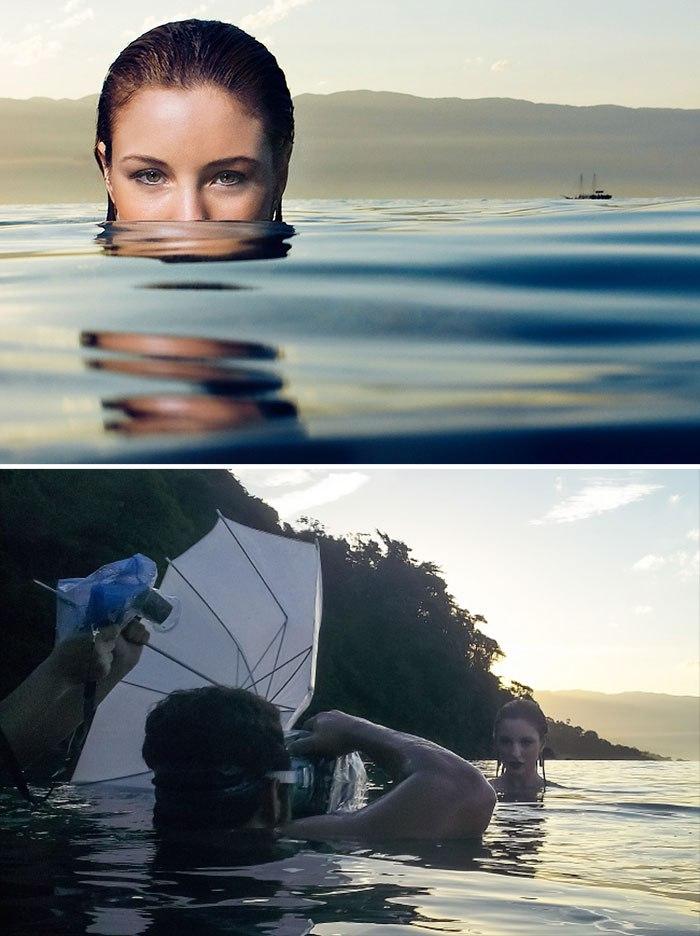 Как сфотографировать девушку в воде