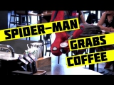 Spider-Man Grabs Coffee | Peter Parker - Spider -Man: Homecoming