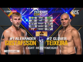 UFC Fight Night 109 Александр Густафссон vs Гловер Тейшейра обзор боя