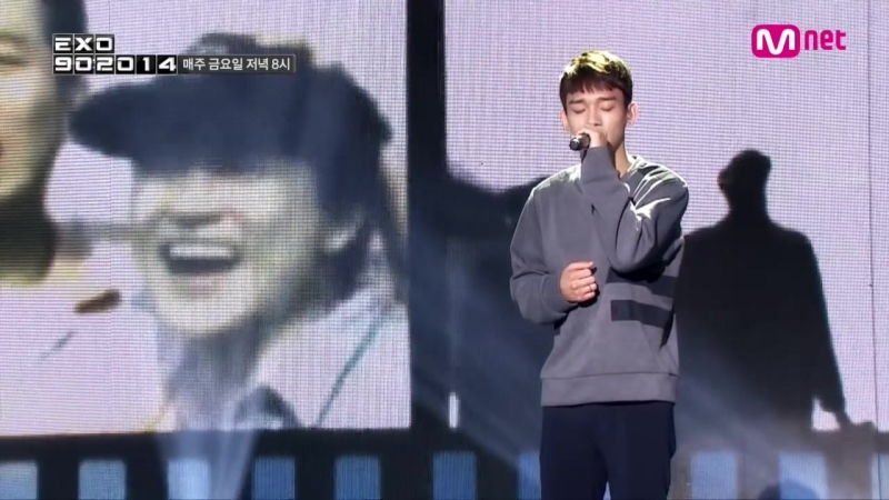 Mnet [EXO 902014] _ 엑소 첸이 부르는 파일럿 OST 정연준-하늘 끝까지 _ EXO Chens special stage