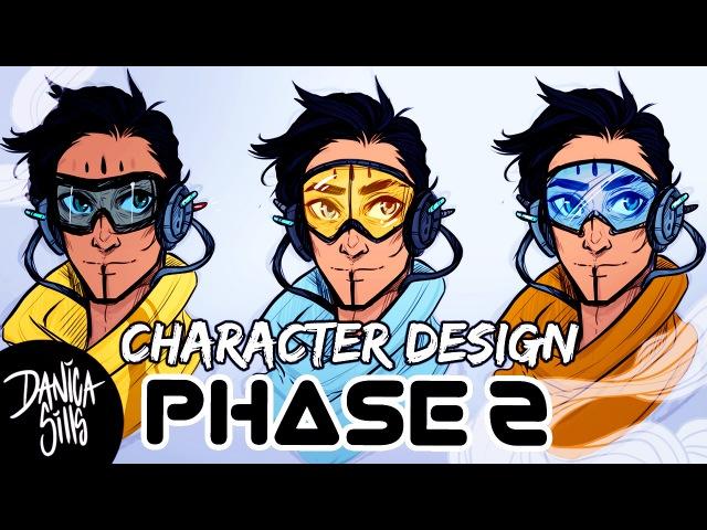 Sci Fi Bike Messenger ♦ Character Design Phase 2 ♦ Digital Sketching