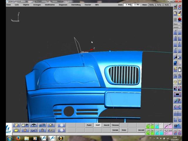BMW-3 HOOD-Modeling (PART-1)mit ICEM SURF.