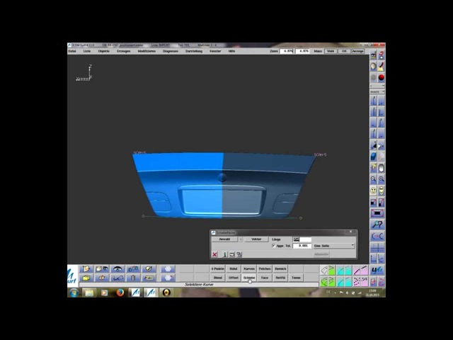 ICEM SURF - Arbeit mit Scan. Aufbau einer Kennzeichenmulde (PART 1)