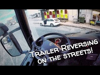 Truck Trailer tight driving and Reversing into Port! GoPro POV commentary, vlog Scania.