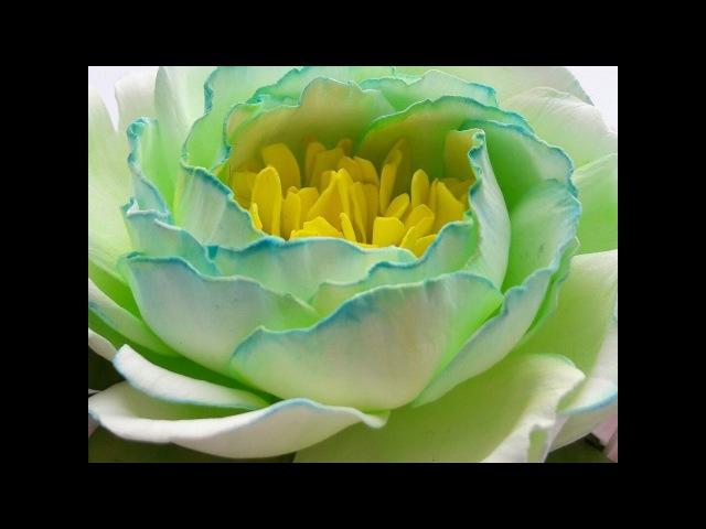 Часть №2 Заколка с цветами гортензии и пионовидной розой из фоамирана