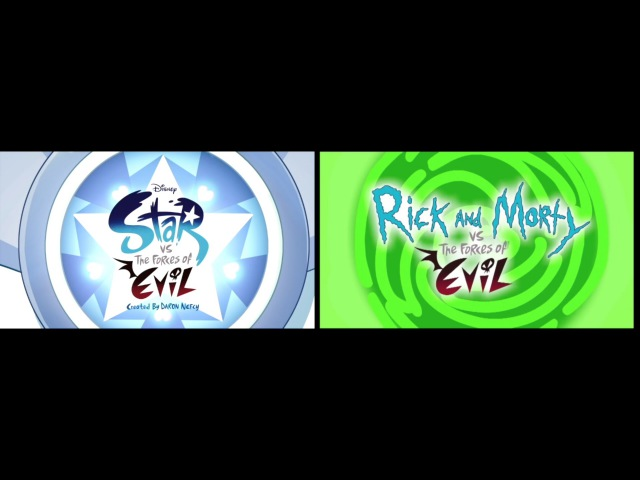 Star vs The Forces Of Evil and Rick and Morty vs The Forces Of Evil Side By Side