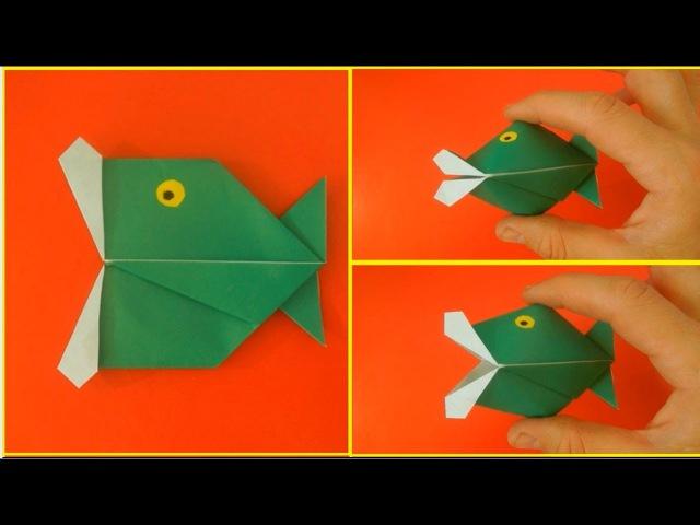 Как сделать говорящую рыбу. Оригами ИГРУШКА рыба