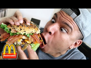 MCDONALD'S $100 BURGER TASTE TEST!! (SECRET MENU ITEM)