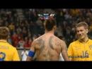 Швеция - Англия  гол Ибрагимович  14.11.2012