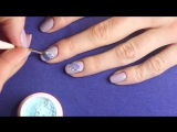 Нежный маникюр Перо на ногтях. Объемный дизайн ногтей гель лаком с Фактурным гелем