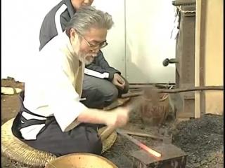 Ковка меча, японский мастер уровня