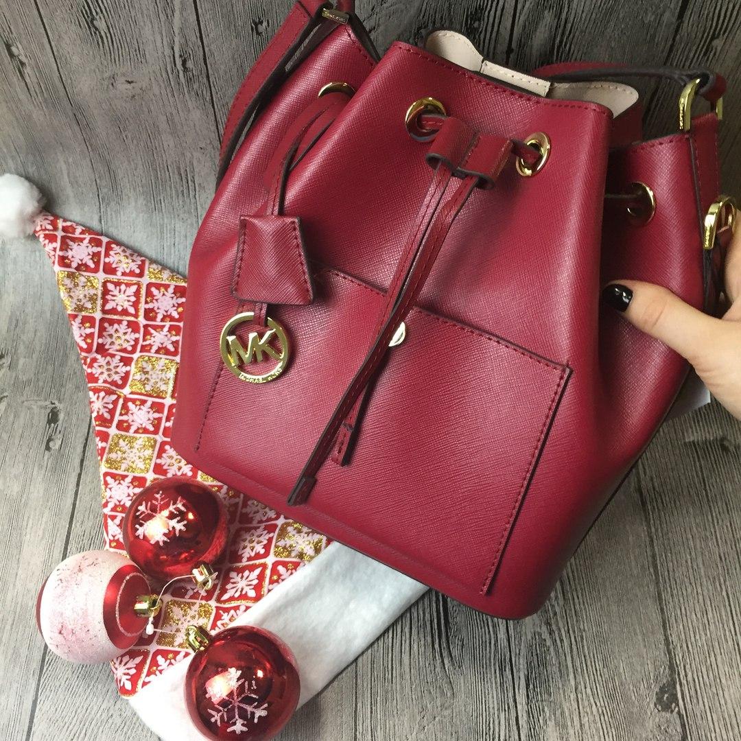 сумка брендовая малиновая