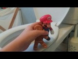 Mario gets flushed away