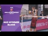 Naz Aydemir Akyols big block - Womens Club World Championship 2017 Kobe