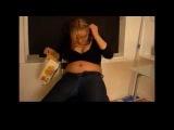 Blonde girl weight gain - button pop