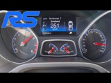 2016 Ford Focus RS Acceleration Launch Control 0-251 km/h Autobahn Speed Test