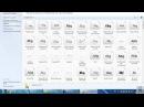 Как установить шрифты в Windows 7