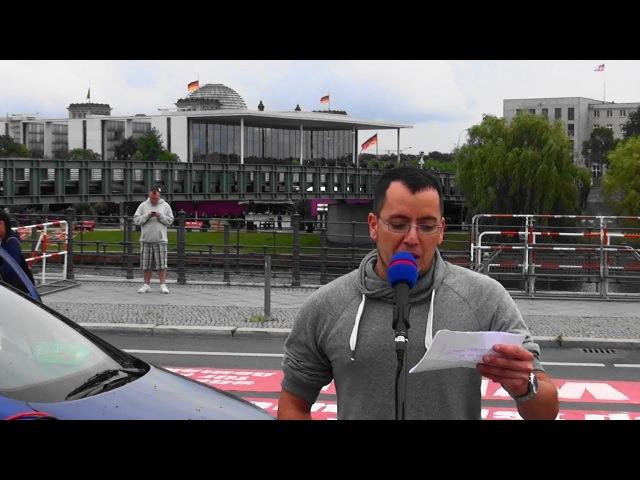 Ignaz Bearth auf Merkel muss weg Demo Berlin 1.Juli