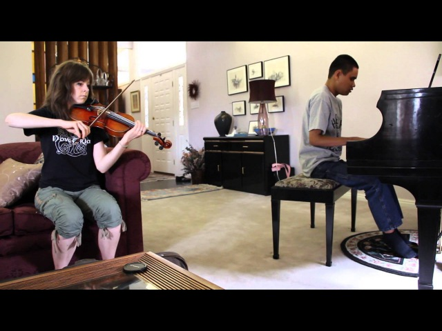 COME THOU FOUNT - LINDSEY STIRLING BLIND PIANO PRODIGY KUHA'O CASE IMPROV DUET