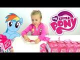 Свит Бокс Пони открываем сюрприз и играем с папой Sweetbox my Little Pony