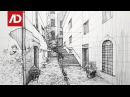 Drawing Spain Street View | Daily Architecture Sketches 17