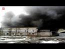 Крупный пожар в Иваново. Горит цех мебельного комбината