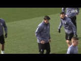 Traning 14022017  Champions League