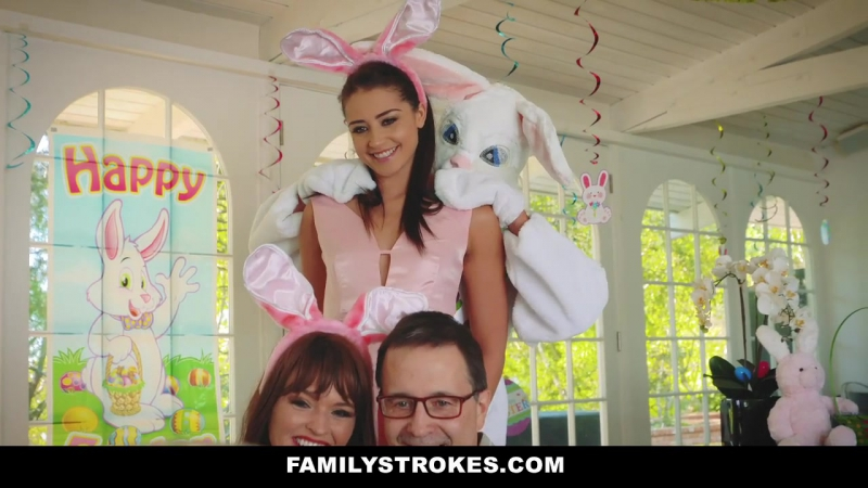 Family Strokes Hot Teen Fucked By Easter Bunny Uncle