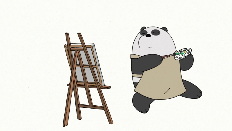 Панда художник (We Bare Bears / Мы обычные медведи 3х10)