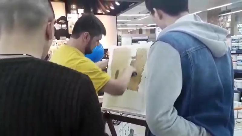 Мастер-класс по нанесению декоративных штукатурок Vincent Decor на гипсовые 3D панели Artpole