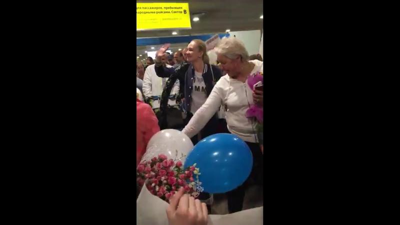 Встреча сборной команды России в аэропорту Шереметьево после ЧЕ 2017