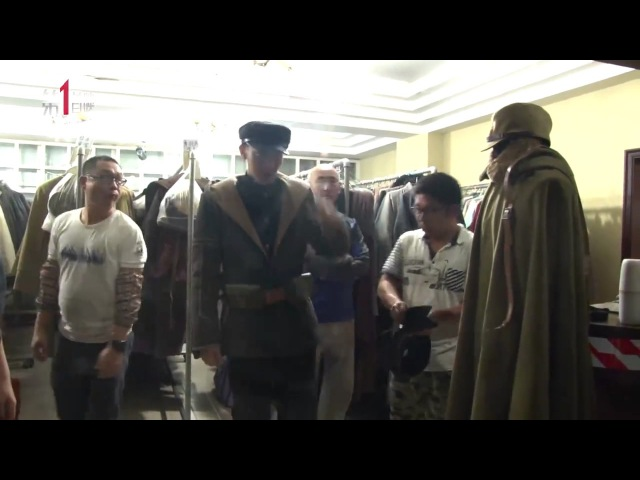 170107 Railroad Tigers movie BTS ZTAO's makeup and outfit for Dahai character