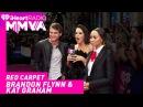 Brandon Flynn and Kat Graham on the iHeartRadio MMVA Red Carpet