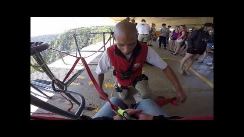 Bloukrans Bungy Jump 2015 Go Pro 4 HD Face Adrenalin South Africa » Freewka.com - Смотреть онлайн в хорощем качестве