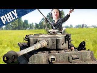 TANK COMMANDER IN VIRTUAL REALITY (War Thunder HTC Vive Gameplay)