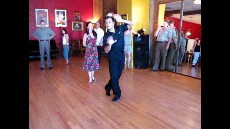 Dancing TheTango Lesson Traspie Combination Oscar Mandagaran Georgina Vargas