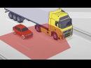 Мертвая зона фуры. Почему попадают под колеса грузовика?