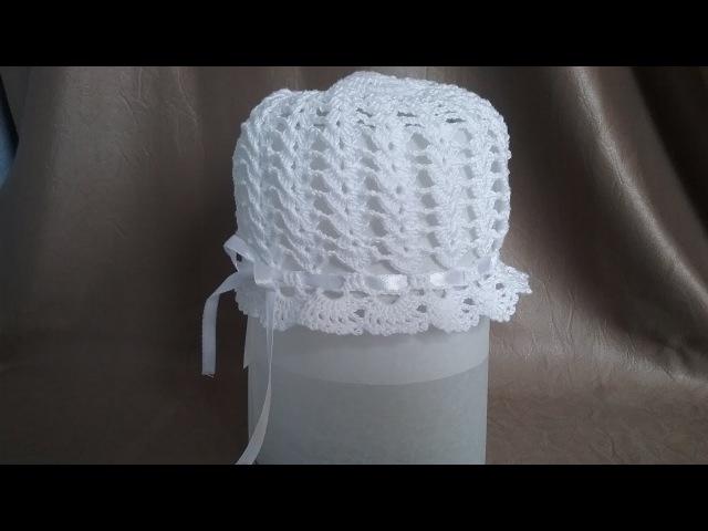 Летняя шапочка-панамка крючком для новичков