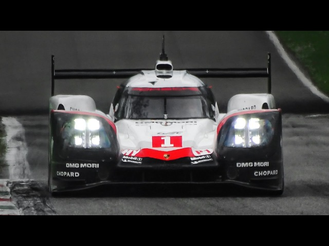 2017 Porsche 919 Hybrid LMP1 Sound - Accelerations, Fly Bys Night Scenes!